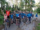 Rajd rowerowy scholi parafialnej