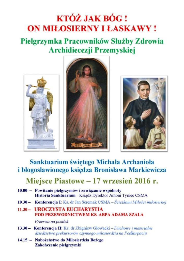 sluzba zdrowia pielgrzymka2016 plakat